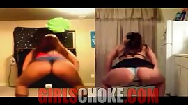 Whooty Fat booty Contest! white girls in ghetto hood pop pussy for dick