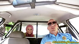 Pink haired teen babe Aidra Fox slammed by the horny cop