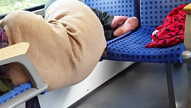Teen soles in train