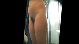Sexy NOT sis-in-law double hidden shower scene