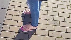 Very sexy brunette teen feet pt.1