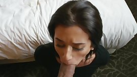 Horny Brunette Teen Gets Fucked and Takes Facial