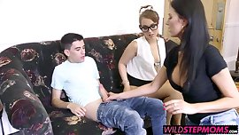 Ania and Zoe slammed by massive dick