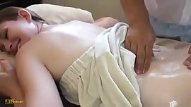 Behind The Scenes Teen gets horny in massage