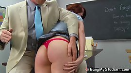 Teacher Spanks & Fucks Naughty Schoolgirl Alana Rains