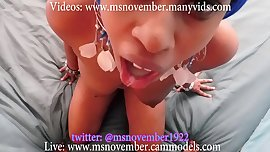 Dick Sucking Ebony Teen Compilation StepDad Blowjob Facial