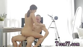 Pale teen huge tits Carre seduced by classmate
