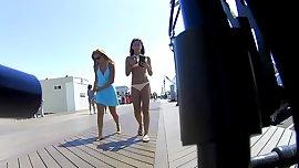 Hot Latina Teen Bikini Front n Back 2