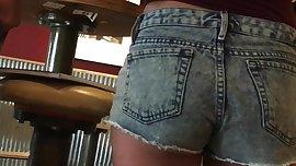 Candid Tiny Teen Summer Shorts