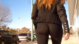 See Through Leggings Ass Walk
