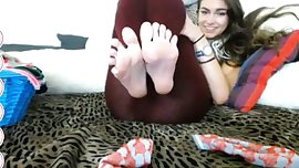 Teen soles in your face